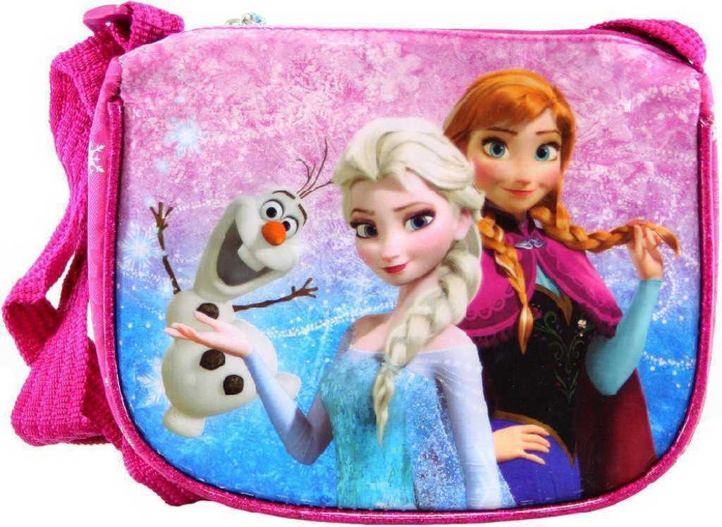 Taštička Frozen (Ledové Království) dětská kabelka s popruhem lesklá růžová