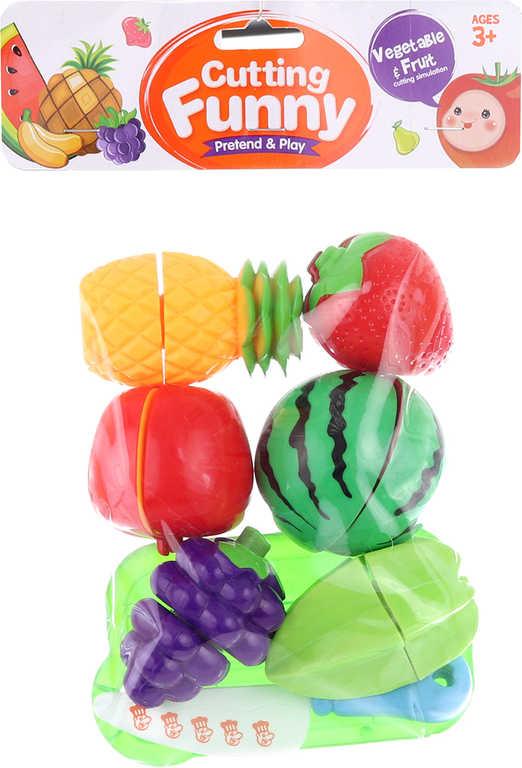 Sada krájecí kuchyňská ovoce na suchý zip set s nožíkem a prkýnkem plast