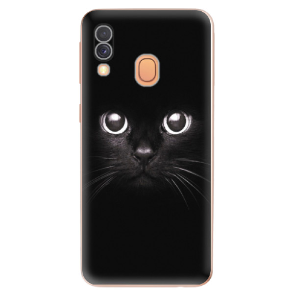 Odolné silikonové pouzdro iSaprio - Black Cat - Samsung Galaxy A40