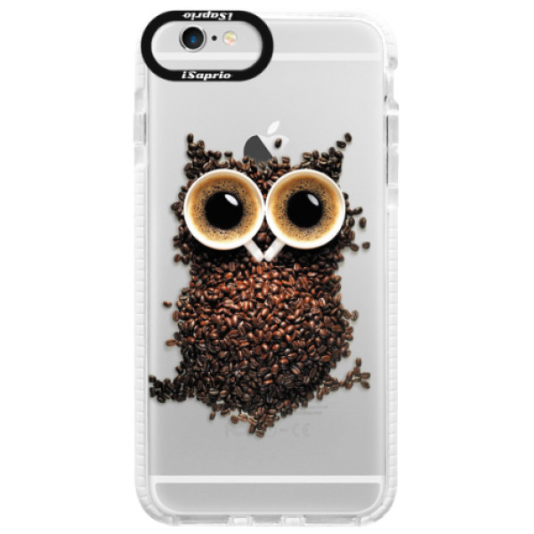 Silikonové pouzdro Bumper iSaprio - Owl And Coffee - iPhone 6 Plus/6S Plus