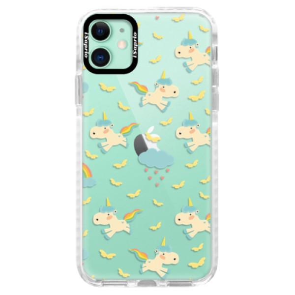 Silikonové pouzdro Bumper iSaprio - Unicorn pattern 01 - iPhone 11