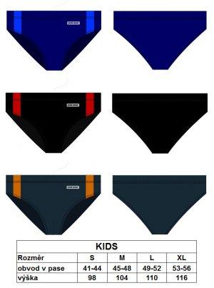Chlapecké plavky BDT 629 Sesto Senso - Tm.modrá s modrou/XL