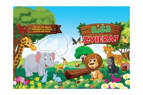 Blok Ríša zvierat so samolepkami SK verzia 25 x 35 cm