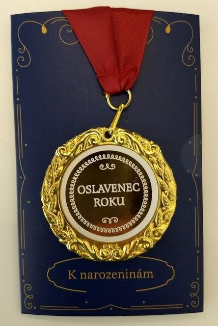 Přání s medailí - Oslavenec roku
