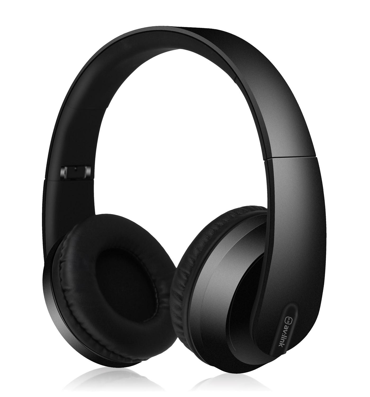AV:link SFBH1-BLK bezdrátová Bluetooth sluchátka, černá