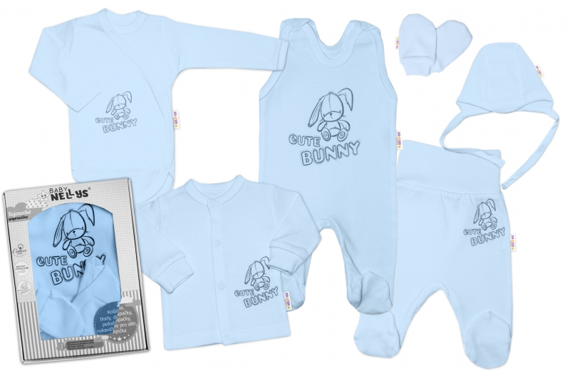 baby-nellys-velka-sada-do-porodnice-cute-bunny-6-ti-dilna-v-krabicce-modra-vel-56-56-1-2m