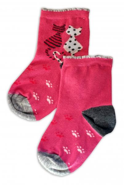 Baby Nellys Bavlněné ponožky Kočičky