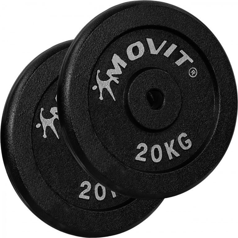 MOVIT sada závaží 2 x 20 kg, litina