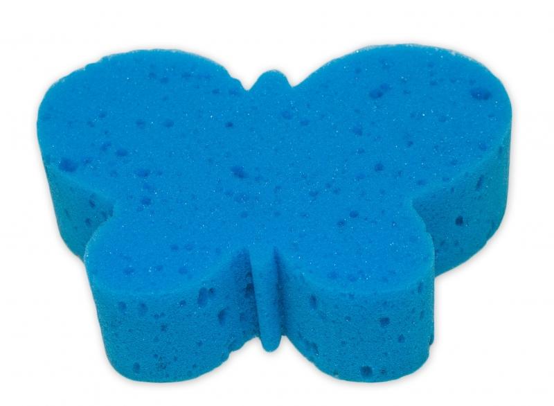 Dětská koupelová houba - zvířátko, modrá