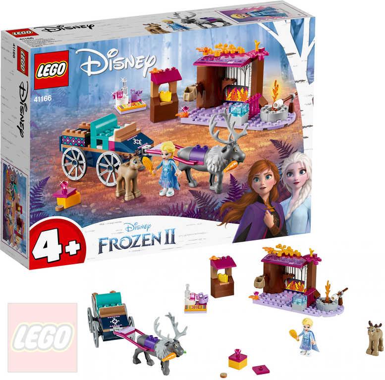 LEGO PRINCESS FROZEN 2 Elsa a dobrodružství s povozem 41166 STAVEBNICE
