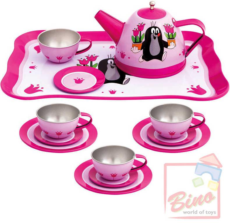 BINO Dětský čajový set 15ks KRTEK (Krteček) plechový 13743