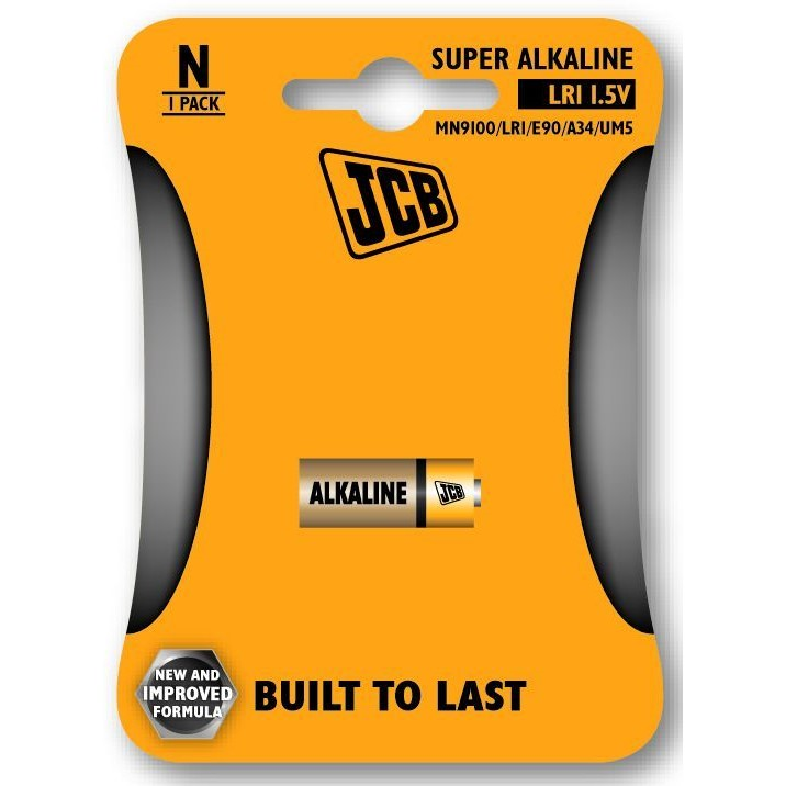 JCB alkalická baterie LR1, blistr 1 ks