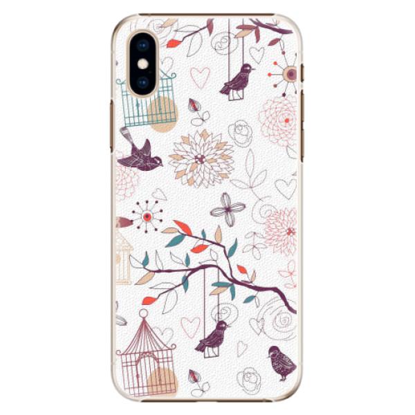 Plastové pouzdro iSaprio - Birds - iPhone XS