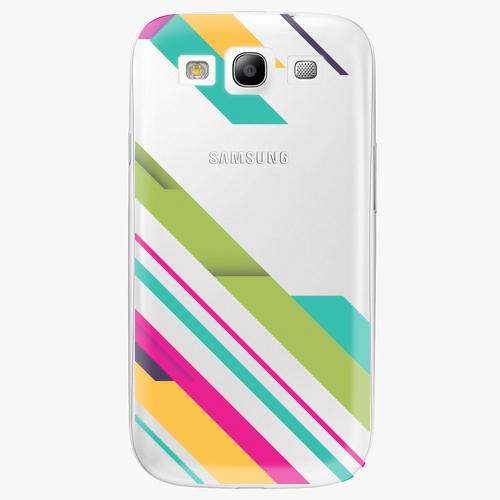 Plastový kryt iSaprio - Color Stripes 03 - Samsung Galaxy S3