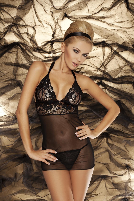 Erotická souprava Vici black - Černá/XL