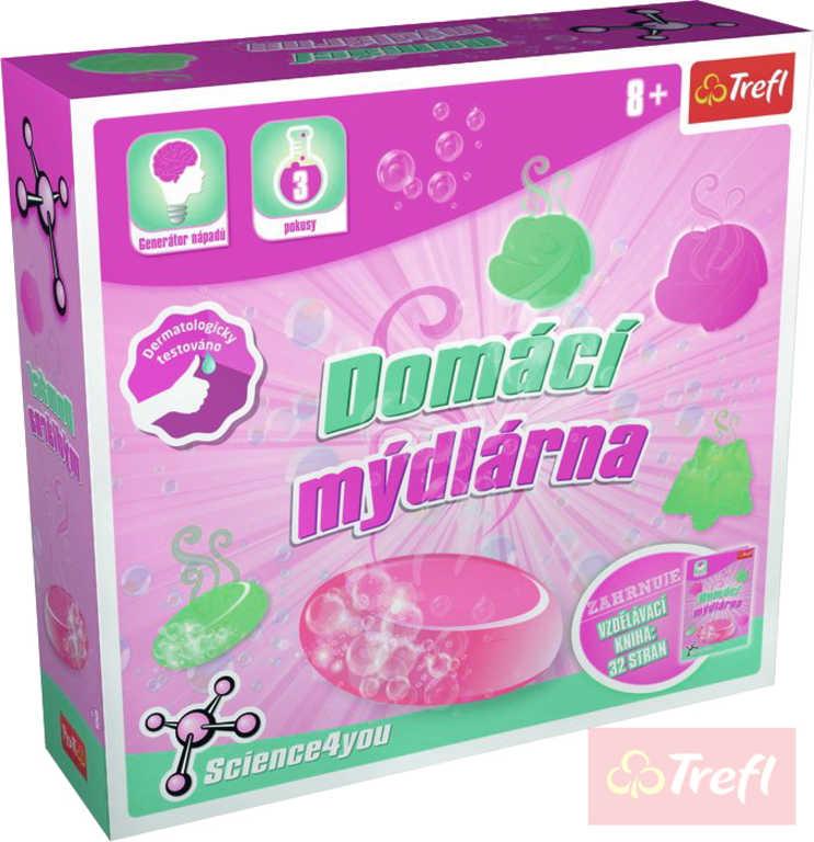 TREFL HRA Vědecká Domácí mýdlárna 3 pokus Science 4 you v krabici