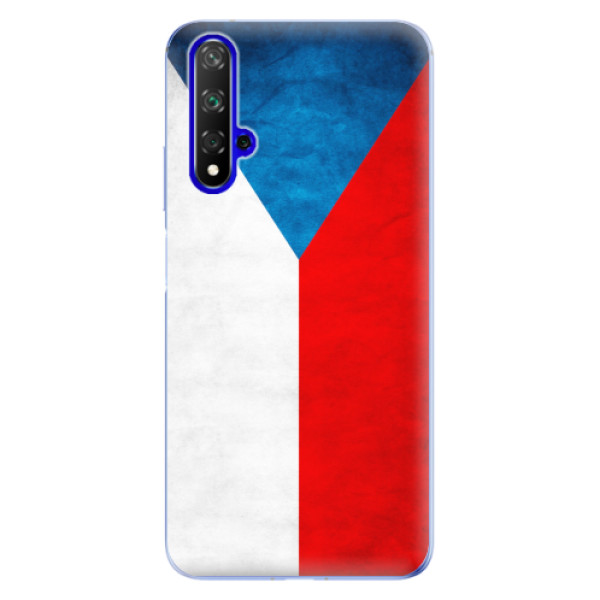Odolné silikonové pouzdro iSaprio - Czech Flag - Huawei Honor 20
