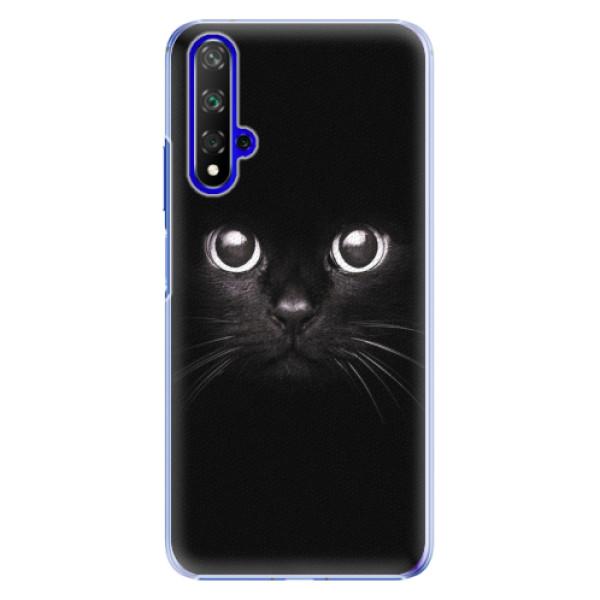 Plastové pouzdro iSaprio - Black Cat - Huawei Honor 20