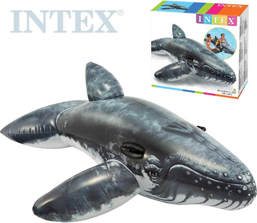 INTEX Velryba nafukovací s úchyty 201x135cm dětské vozítko do vody 57530