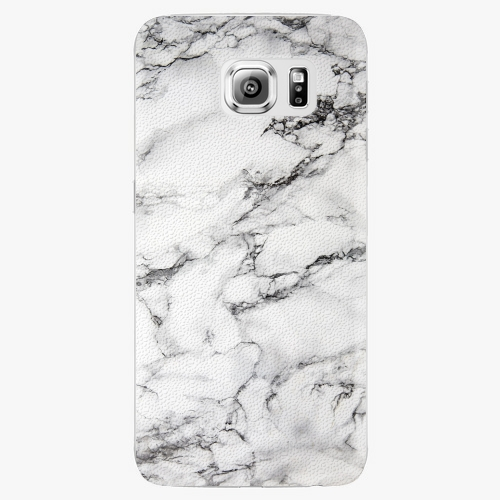 Plastový kryt iSaprio - White Marble 01 - Samsung Galaxy S6