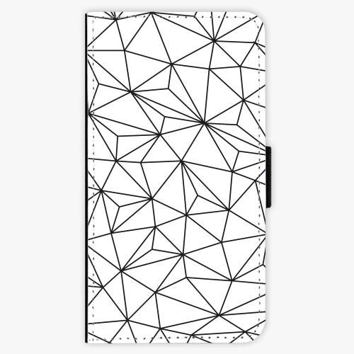 Flipové pouzdro iSaprio - Abstract Triangles 03 - black - Samsung Galaxy J1 2016