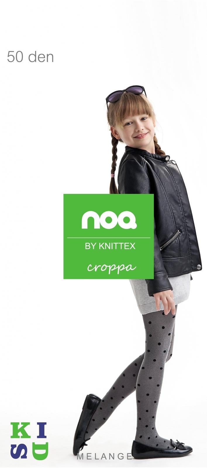 Punčochové kalhoty Knittex Croppa - Nero/128-134