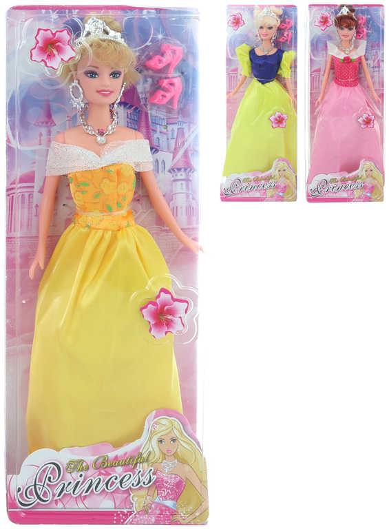 Panenka princezna 30 cm plesové šaty - 3 druhy