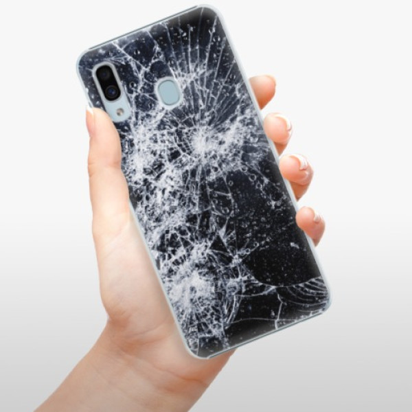 Plastové pouzdro iSaprio - Cracked - Samsung Galaxy A30