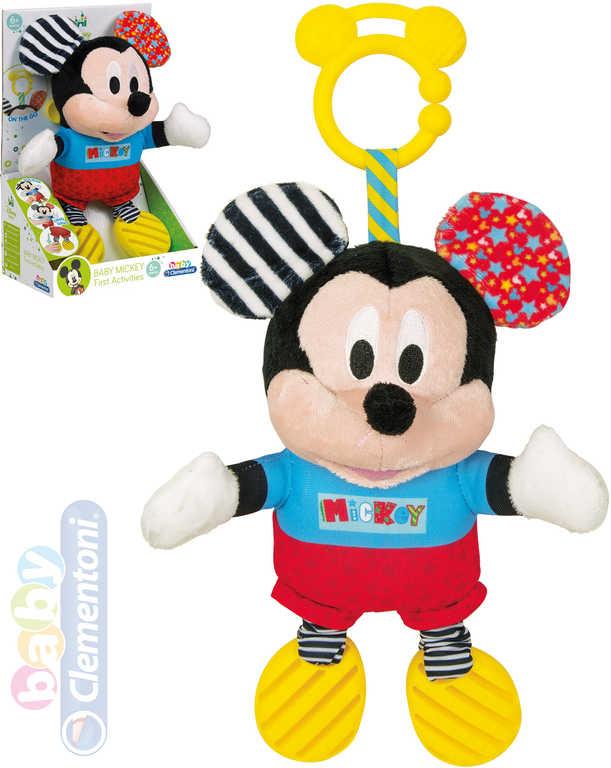 CLEMENTONI PLYŠ Baby Mickey Mouse myšák kousátko Zvuk *PLYŠOVÉ HRAČKY*