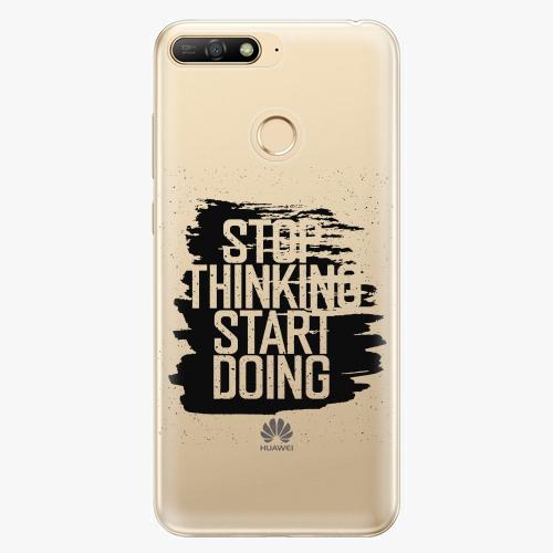 Silikonové pouzdro iSaprio - Start Doing - black - Huawei Y6 Prime 2018