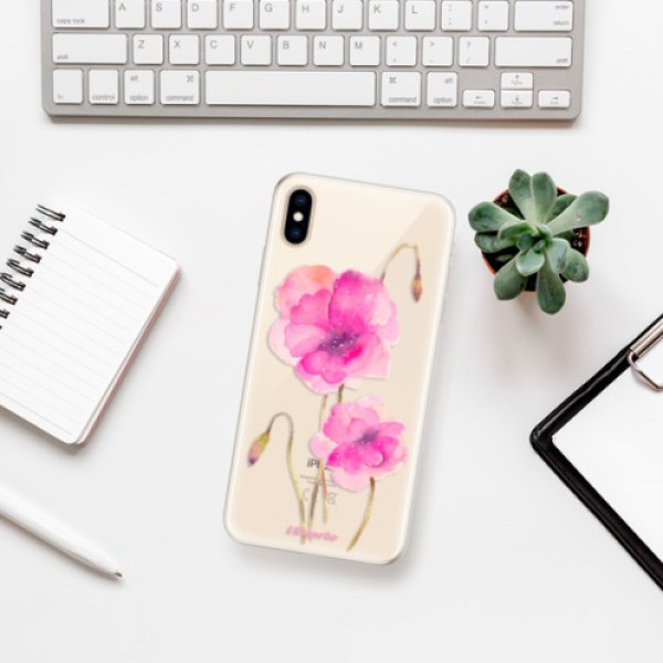 Silikonové pouzdro iSaprio - Poppies 02 - iPhone XS Max