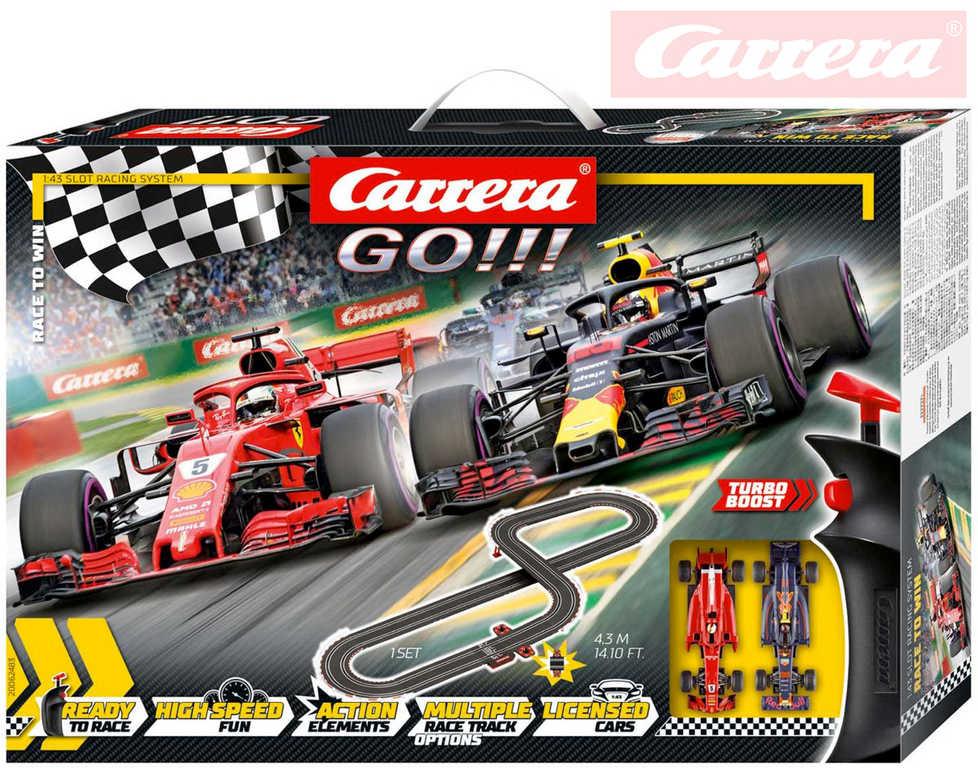 CARRERA Autodráha GO!!! Race to win na trafo 430cm na trafo 230V