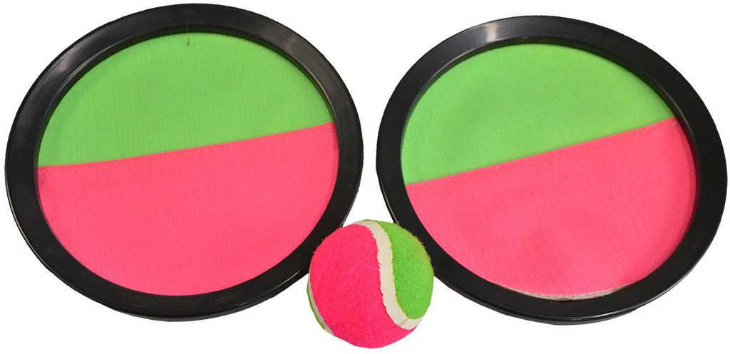 Hra Catch Ball set 2 talíře 20cm s míčkem na suchý zip