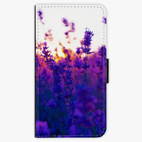 Flipové pouzdro iSaprio - Lavender Field - Samsung Galaxy S6 Edge