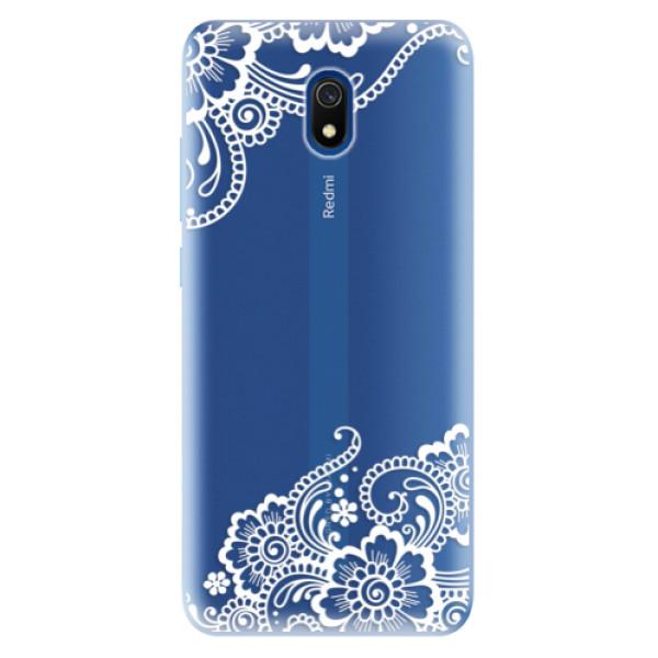 Odolné silikonové pouzdro iSaprio - White Lace 02 - Xiaomi Redmi 8A