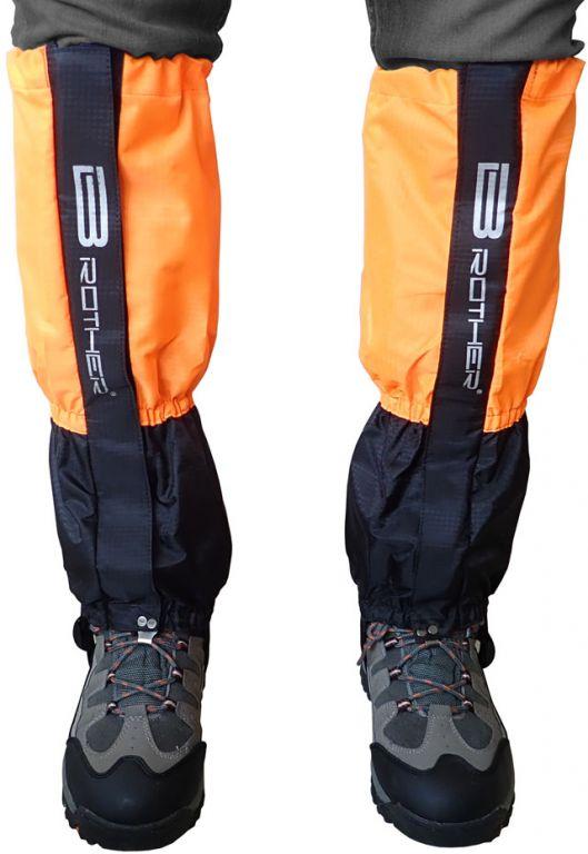 Turistické návleky komfortní černo-oranžové - 1 pár