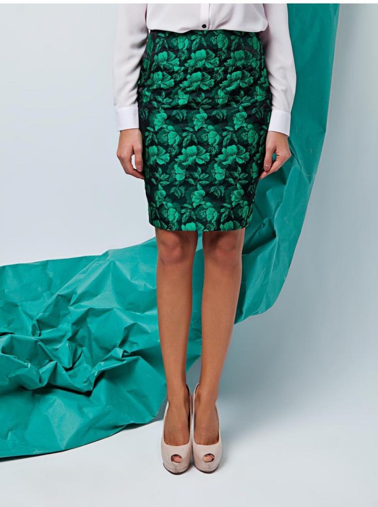 Dámská sukně 74054 - GrandUA - Zeleno-černá/40
