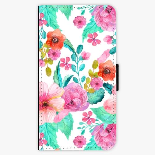 Flipové pouzdro iSaprio - Flower Pattern 01 - Samsung Galaxy S6 Edge