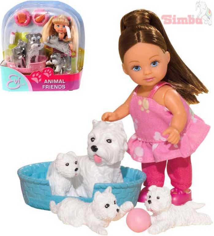 SIMBA Evička panenka s domácími mazlíčky
