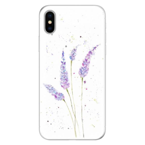 Silikonové pouzdro iSaprio - Lavender - iPhone X