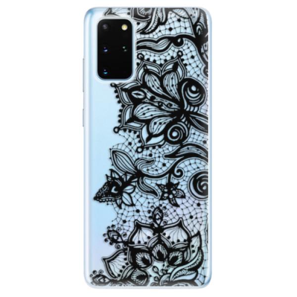 Odolné silikonové pouzdro iSaprio - Black Lace - Samsung Galaxy S20+
