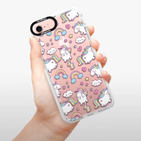 Silikonové pouzdro Bumper iSaprio - Unicorn pattern 02 - iPhone 7