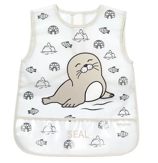 BabyOno Dětská zástěrka ACTIVE BABY - Seal