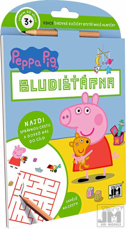 JIRI MODELS Bludišťárna Peppa Pig set s tužkou