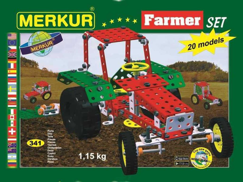 MERKUR 112 Farmer set * KOVOVÁ STAVEBNICE *