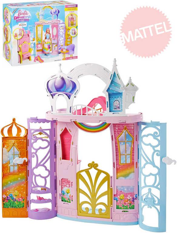 MATTEL BRB Barbie Dreamtopia zámek duhový herní set s doplňky plast