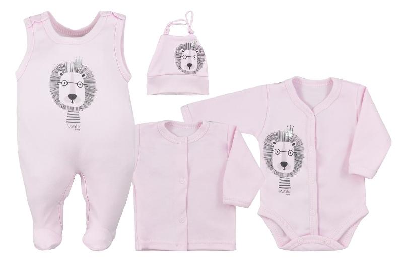 koala-baby-4-dilna-bavlnena-soupravicka-do-porodnice-simba-ruzova-vel-62-62-2-3m