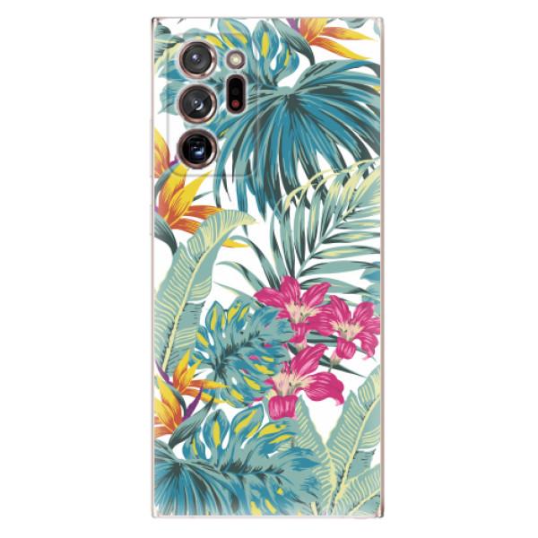 Odolné silikonové pouzdro iSaprio - Tropical White 03 - Samsung Galaxy Note 20 Ultra