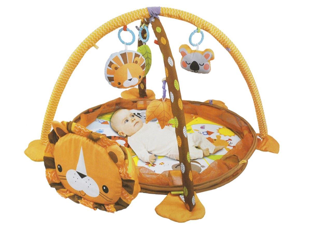 Hrací deka lvíček s míčky 3v1