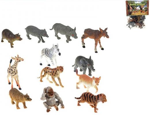 Zvířátka divoká mláďata 6,5-9cm set 12ks Safari v sáčku